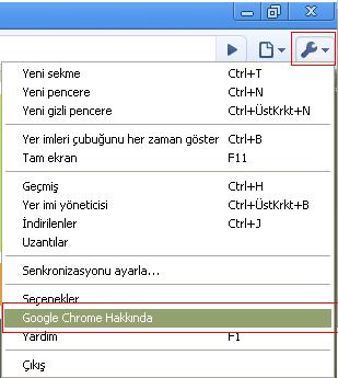 Google chrome 5 güncelleme
