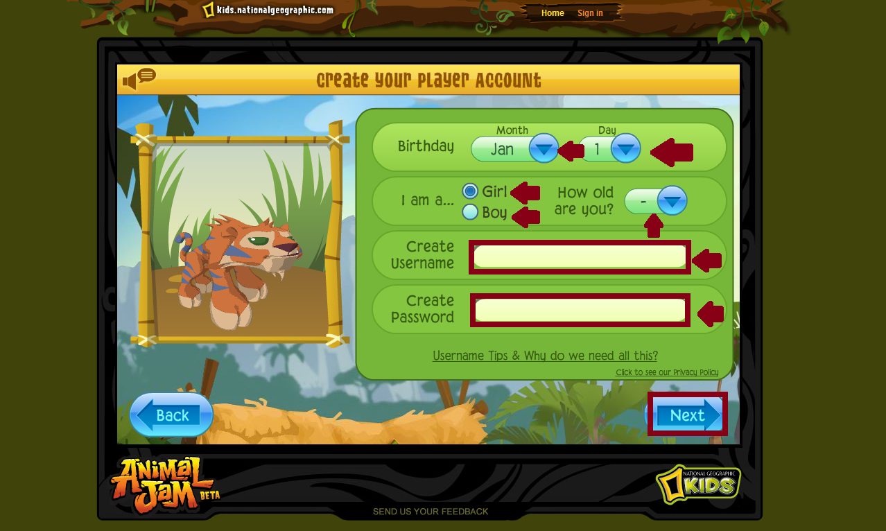 Animal Jam 101: Signing Up!