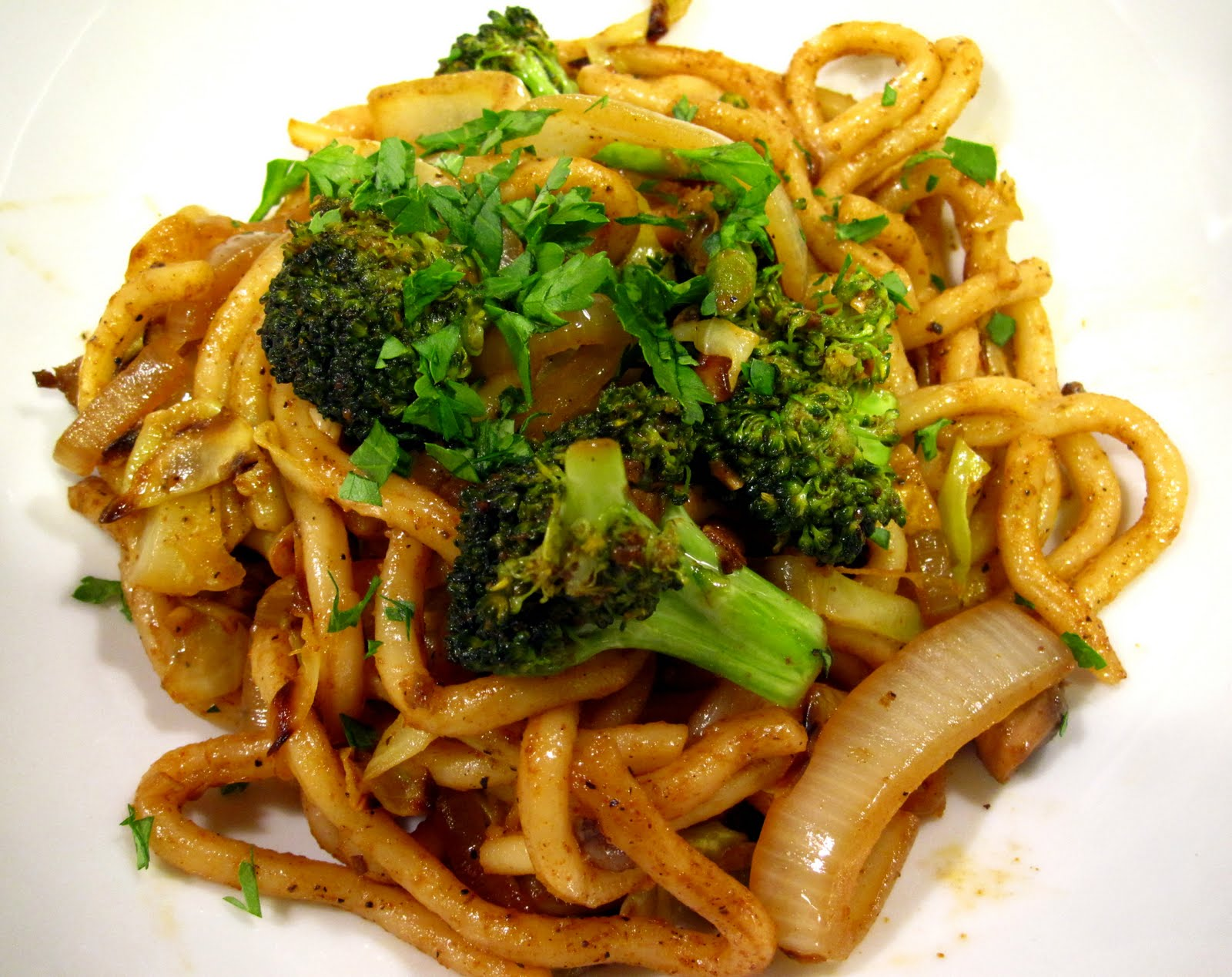 Fried Udon Noodles ( The Kind Diet ). I added broccoli & mushrooms to ...