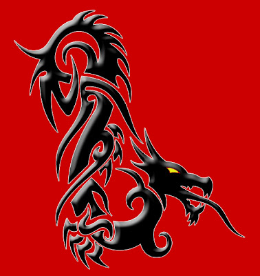 tribal tattoo design long dragon tribal tattoos design is nice. Black Bedroom Furniture Sets. Home Design Ideas