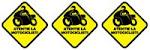 Atentie la motociclisti - STICKER LUNETA