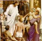 Jesús curando a los enfermos