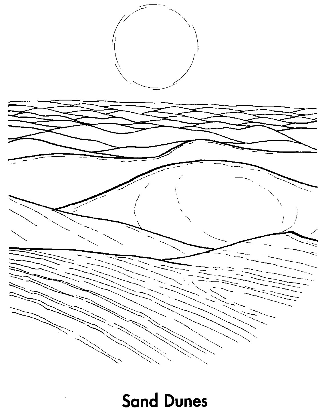 sand coloring pages - photo#16