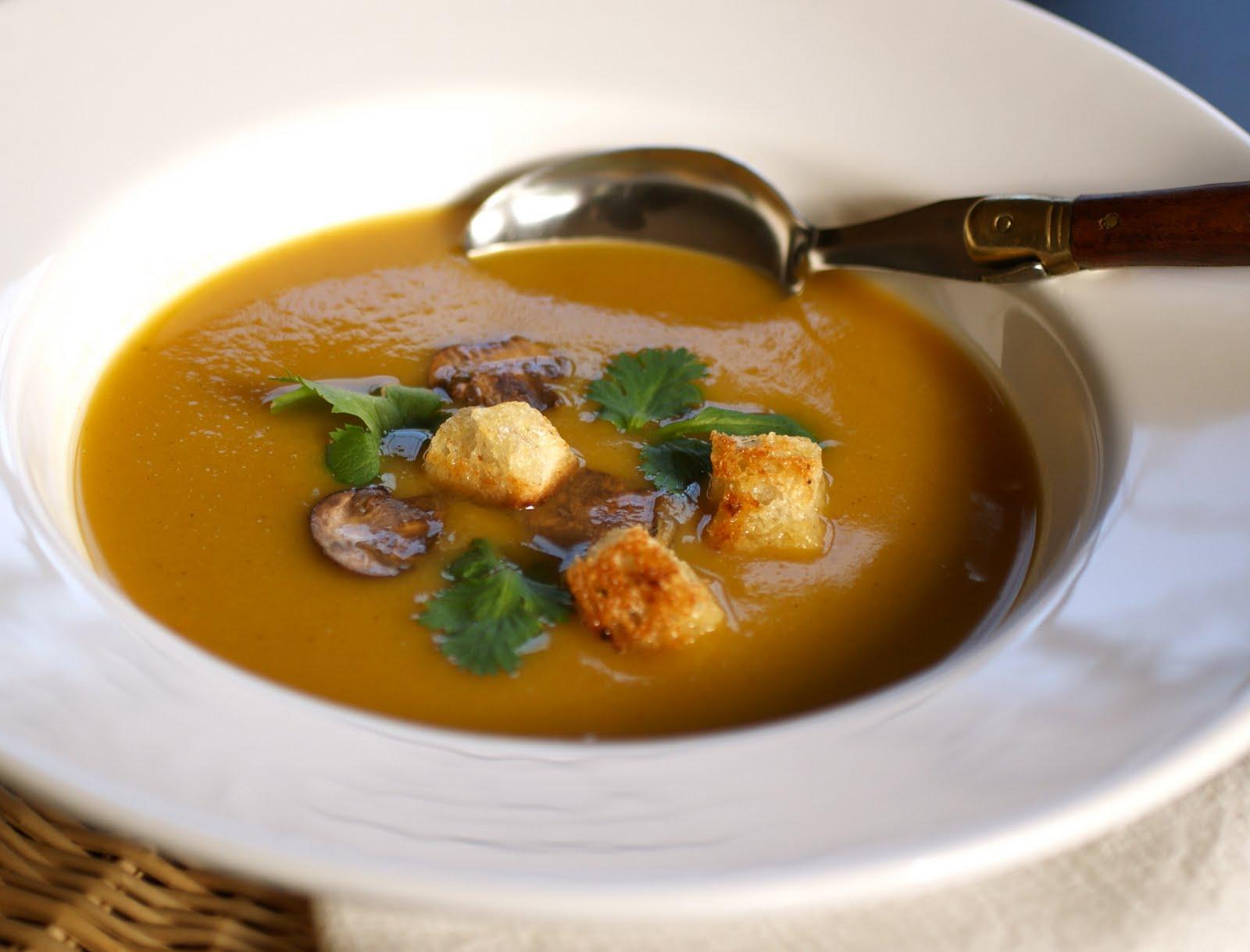 2 stews roasted pumpkin chestnut soup