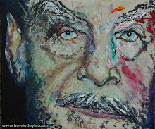 "Howie Doyle-""Monster: Josef Fritzl"" (30""x36"" oils)."
