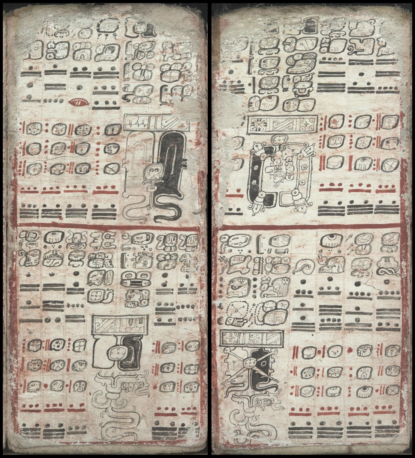 mayan codex - eclipse tables