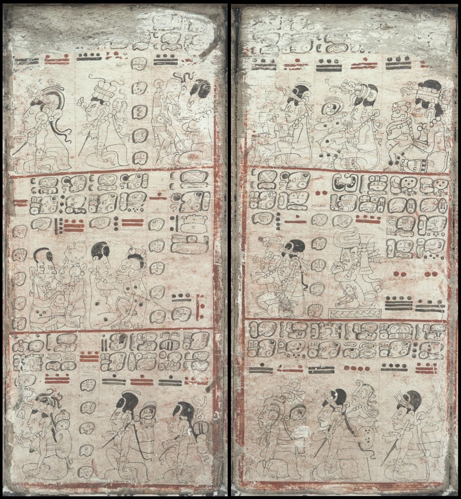 Mayan codex Dresden - The Moon Goddess; illness and birth