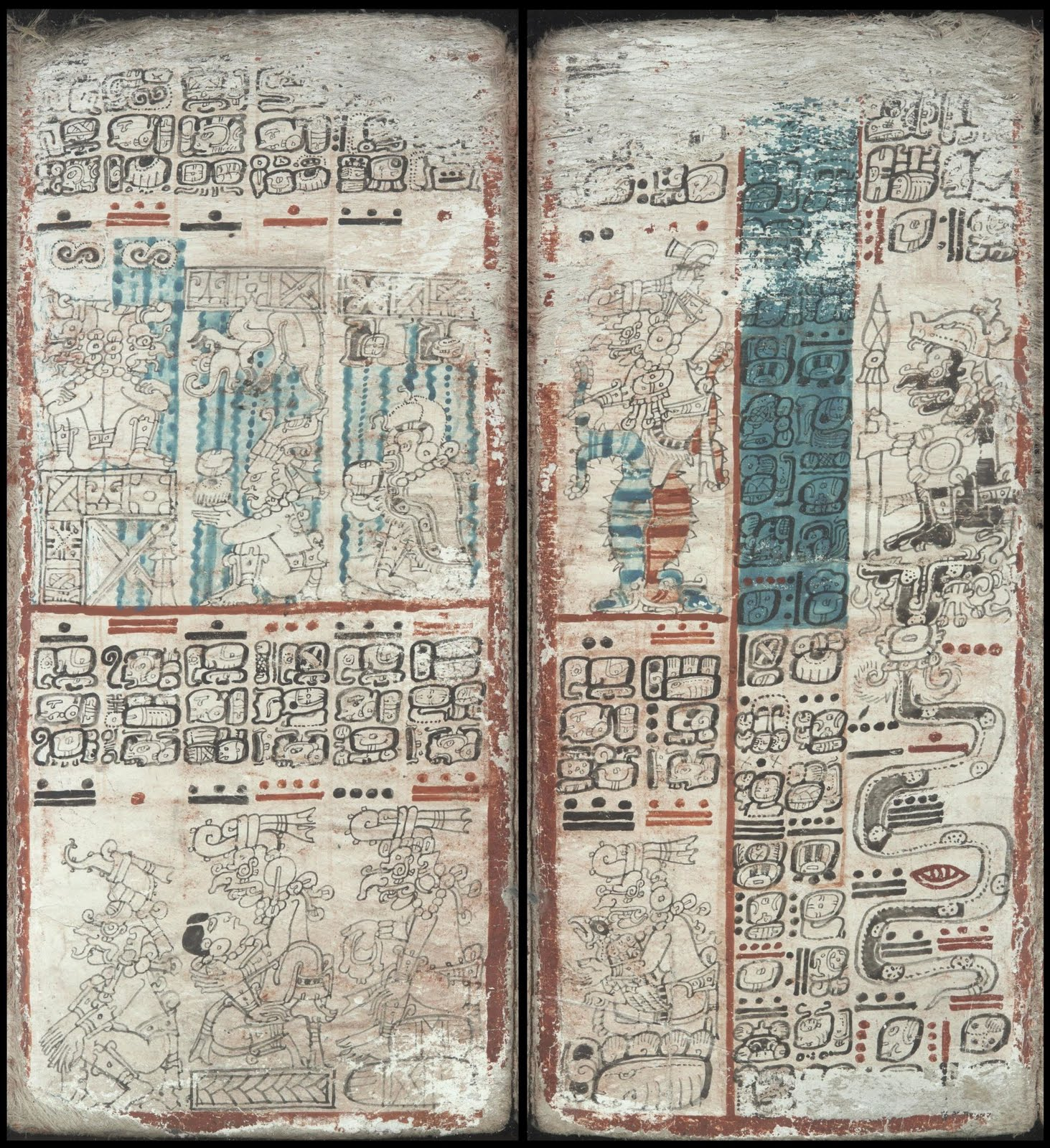 Mayan codex - Serpent numbers; the columns of the universe; manifestations of the Rain God
