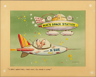 fifties space comic panel