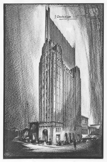 Los Angeles Office tower drawing