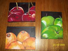 Triptico de frutas