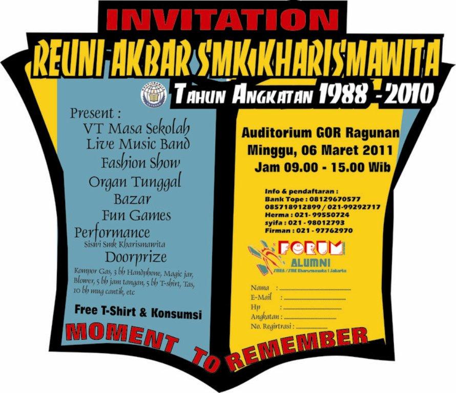Alumni Kharismawita Undangan Reuni Akbar Smk Kharismawita