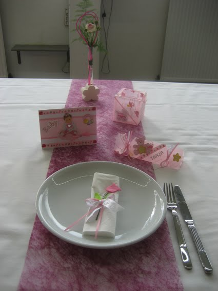 Sabines creativblog tischdekoration taufe f r m dchen - Tischdekoration taufe ...