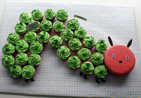 the very hungry caterpillar cake by coco cake land