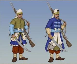 Janissary yang memakai senapan