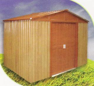 Garden center ejea accesorios jard n poly madera for Cobertizos de chapa