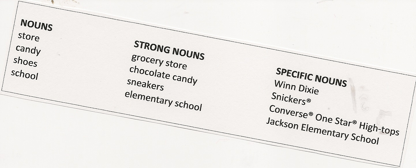 What is a noun that tells more about another noun?