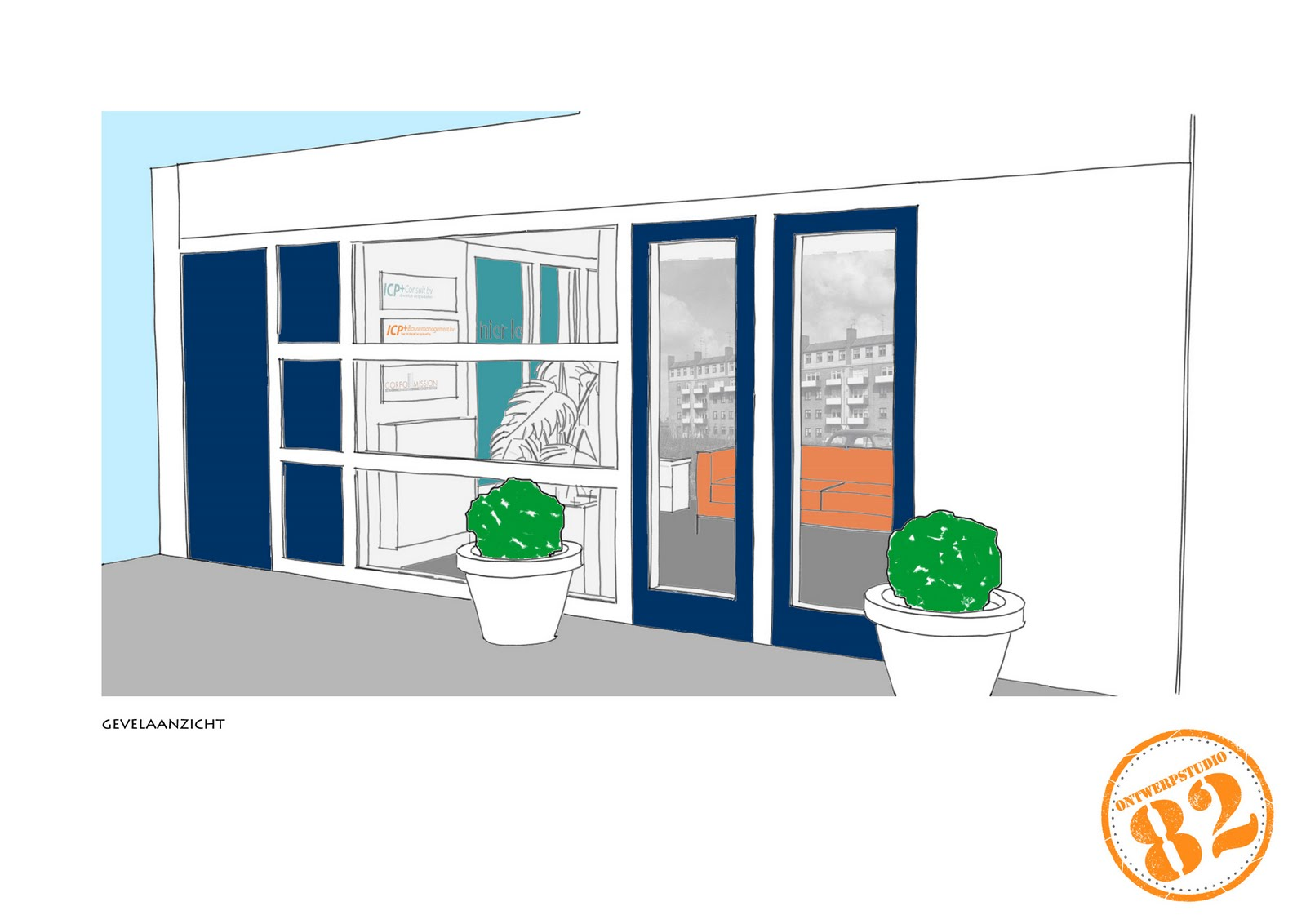 Lisa interieur en architectuur - Entree appartement ontwerp ...