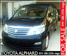 FOR SALE TOYOTA ALPHARD 2.4 FULL SPEC (05/07)