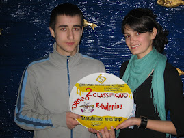 Ana and Calin at the Miramare Hotel, happy with the second prize!
