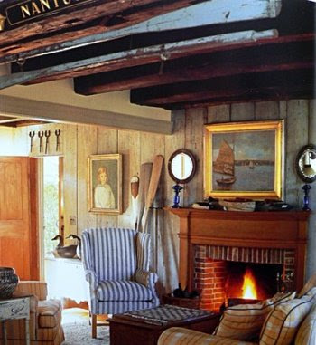 seafaring Nantucket style living room