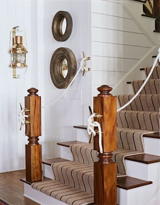 nautical decor in entryway