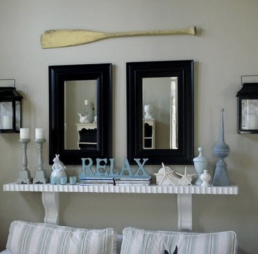 Decorating Nautical With Wooden Oars As Wall Decor Rods