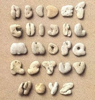 Beach Pebble Alphabet