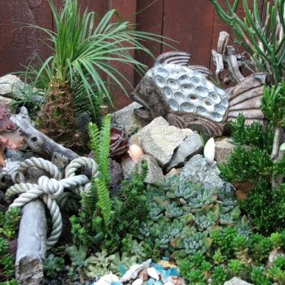 garden decor with succulents