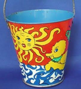 1950's tin sand pail