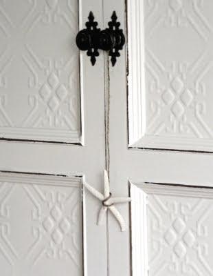 starfish hanging on door