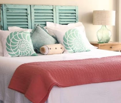 diy headboard ideas shutters headboard