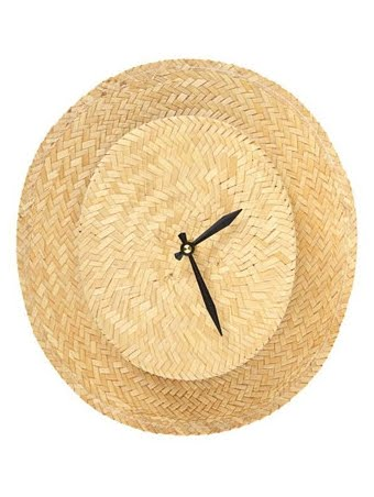 straw hat wall clock