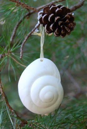 white porcelain snail shell ornaments