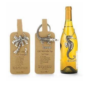 sea creatures bottle tags