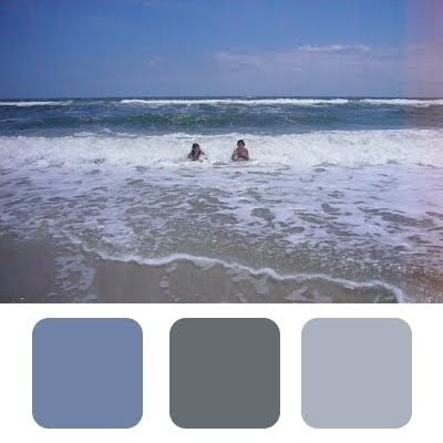 Room color schemes from the shore coastal decor ideas for Ocean blue color combinations