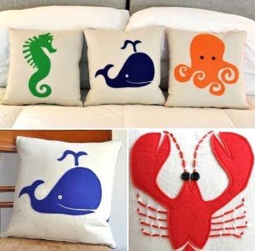 ocean creature kids pillows