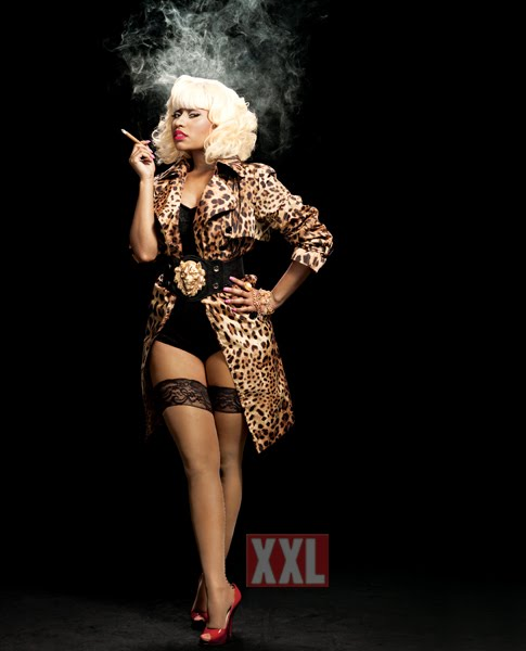 few pics of rising hip-hop star and rapper Nicki Minaj in XXL Magazine.