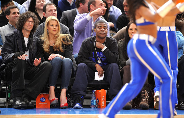 Photos of celebrity's Knick/Heat Game Howard Stern, Spike Lee, Tracey