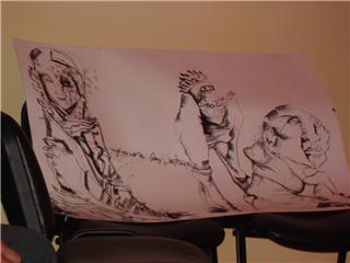 Dibujo realizado en La Palabra Repartida