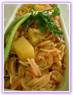 Patatesli arpa �ehriye pilav� tarifi