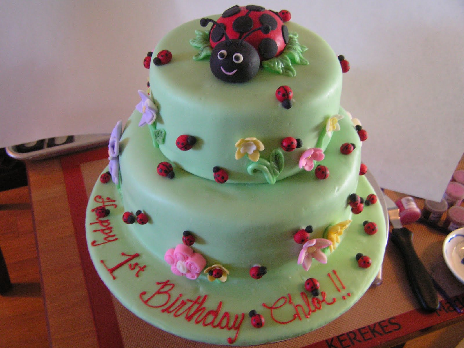 Sugar Temptress Lady Bug Birthday Cake For A Special Little Lady