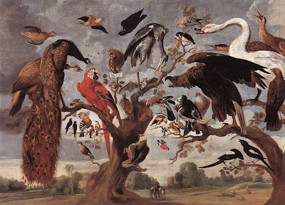 Jan van Kessel (* 1626, Antwerpen, + 1679, Antwerpen): Das Vogelkonzert, Koninklijk Museum voor Schone Kunsten, Antwerpen