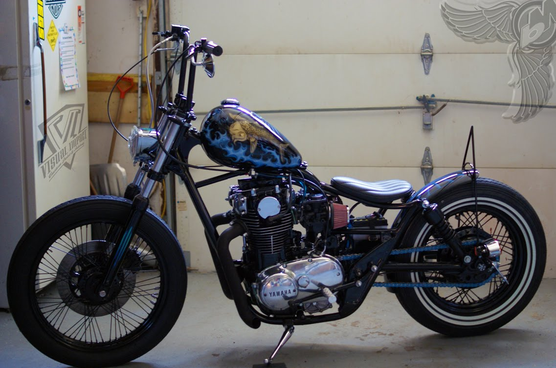 xs650 brat bobber by visual impact bikermetric. Black Bedroom Furniture Sets. Home Design Ideas