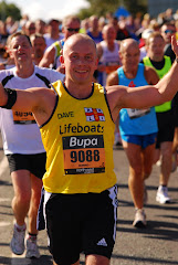 Crossing the finish line of the 2009 Great North Run