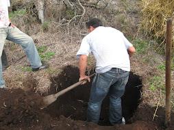 excavacion del hoyo