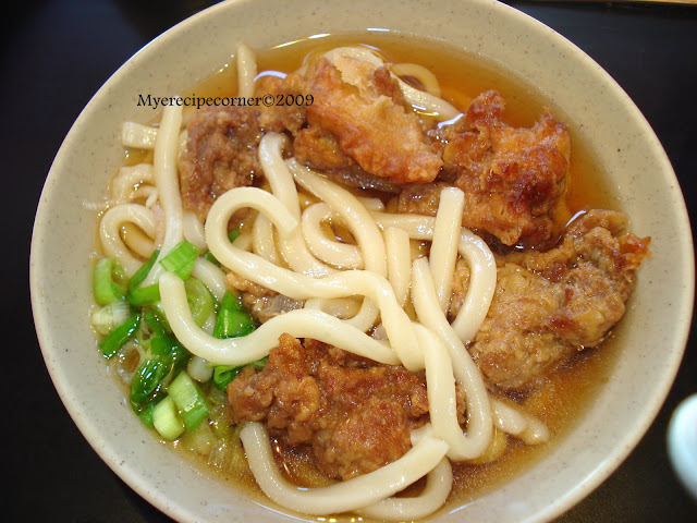 Mye's Kitchen: Udon Noodles Soup and Chicken Tempura