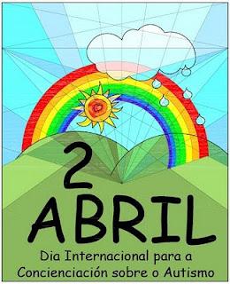 Cartel conmemorativo día 2 de abril Concienciación sobre el Autismo, obra de Inés Casal