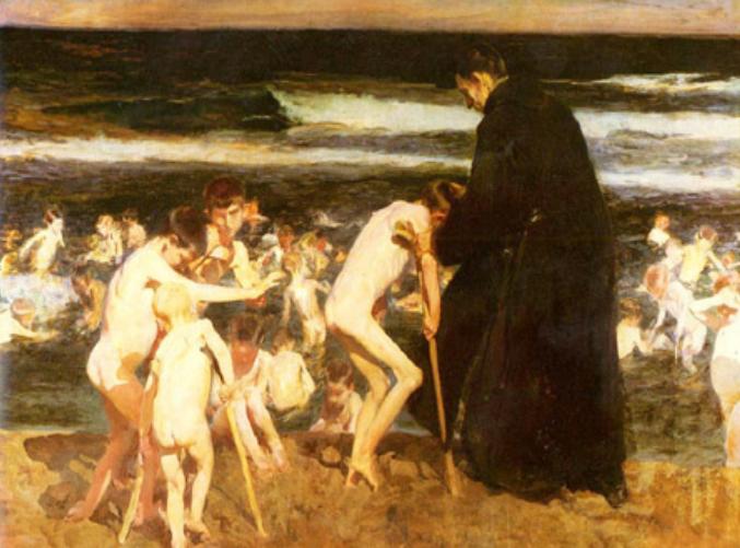 Imagen del cuadro de Sorolla titulado Triste herencia