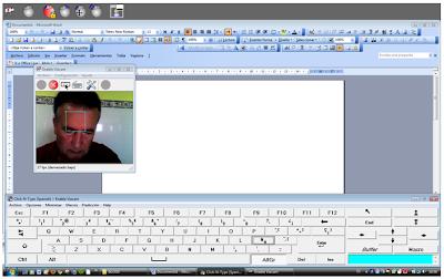 Interfaz del usuario utilizando Word y un teclado virtual
